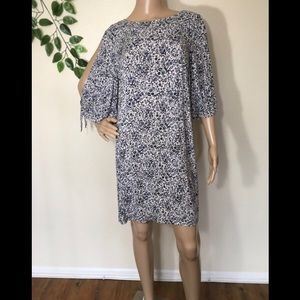 H&M Blue Floral Midi Tunic Dress